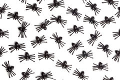 Halloween - Spiders - Seamless Background Pattern Royalty Free Stock Photography