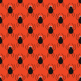 Halloween spiders simple pattern. Cute seamless background. Royalty Free Stock Image