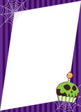 Halloween Spiderweb com frame do queque Fotografia de Stock