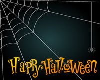 Halloween spiderweb illustration Royalty Free Stock Images