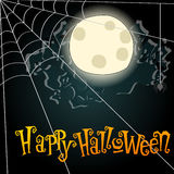Halloween spiderweb illustration Stock Images