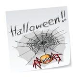 halloween spindel Arkivfoton