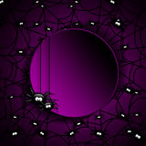 Halloween-Spinnennetz mit Platz für Text Stockbilder
