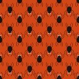 Halloween-spinnenpatroon Leuke naadloze achtergrond Stock Afbeelding