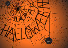 Halloween-spinneweb Stock Afbeelding