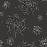 Halloween-spinneweb naadloos patroon Royalty-vrije Stock Afbeelding