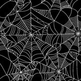 Halloween-spinneweb naadloos patroon Royalty-vrije Stock Foto