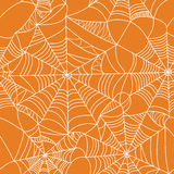 Halloween-spinneweb naadloos patroon royalty-vrije illustratie