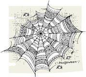 Halloween-spinnewebachtergrond Stock Fotografie