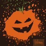 Halloween Splatter Pumpkin Stock Photography