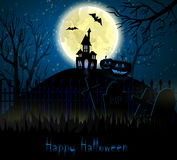 Halloween spooky background Royalty Free Stock Images