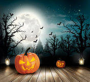 Halloween spooky background Stock Images