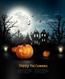 Halloween spooky background. Stock Images