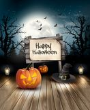 Halloween spooky background. Royalty Free Stock Photo