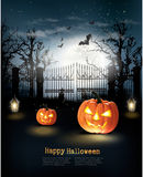 Halloween spooky background. Royalty Free Stock Image