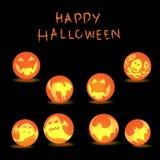 Halloween spooky glowing balls. Stock Image