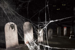 Dark spooky graveyard Stock Images