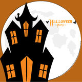 Halloween spooky house card Stock Images