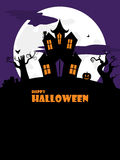 Halloween spooky house portrait Stock Photography