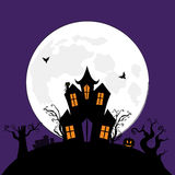 Halloween spooky house Stock Images