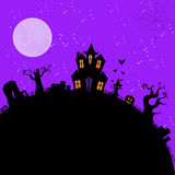 Halloween spooky house2 Royalty Free Stock Images