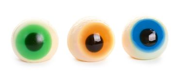 Halloween spooky jelly eye isolated on white background
