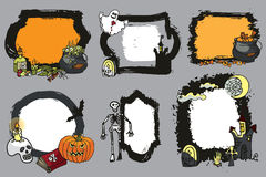 Halloween spooky lebel set.Design template Royalty Free Stock Images