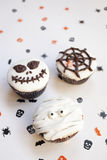 Halloween spooky muffin cupcakes Stock Photo