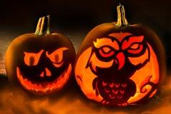 Halloween - Spooky Pumpkins Royalty Free Stock Photos