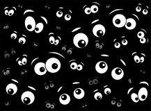 Halloween spooky scary eyes  vector  design isolated on black ba Royalty Free Stock Photography