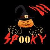 Halloween spooky vector poster stock images