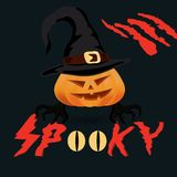 Halloween spooky vector poster royalty free stock image