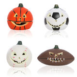 Halloween Sports Pumpkins Royalty Free Stock Photo