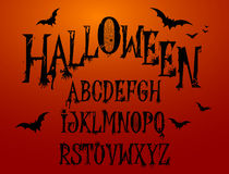 Halloween-Spritzen-Alphabet Stockfoto