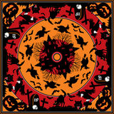 Halloween square ornament Royalty Free Stock Images