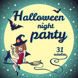 Halloween square party invitation Stock Photography