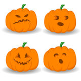 Halloween ställde in med pumpor Arkivfoton