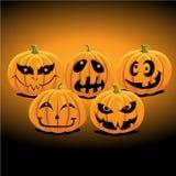 halloween stålarlykta o vektor illustrationer