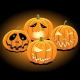 halloween stålarlykta o stock illustrationer