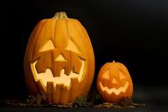 halloween stålarlyktor o royaltyfri foto