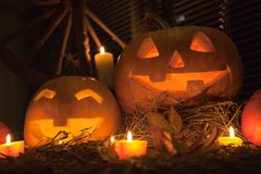 halloween stålarlyktor o Royaltyfri Fotografi