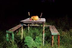 Halloween stół Fotografia Royalty Free