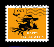 Halloween stamp. Halloween stamp on black background Royalty Free Stock Photography