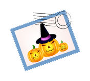 Halloween stamp Stock Image