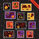 Halloween Stamps-1 Obrazy Royalty Free