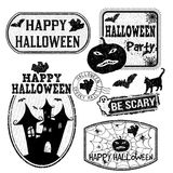 Halloween stamps set Royalty Free Stock Image