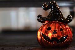 Halloween Steckfassung-Olaterne Lizenzfreie Stockbilder