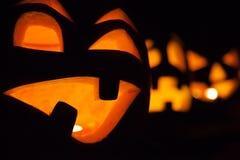 Halloween Steckfassung-Olaternen Stockbild