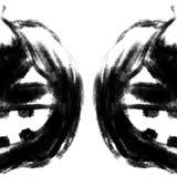 Halloween-Steckfassung-Olaternenkürbiskopfkreide-Holzkohlenbleistift Stockfotografie