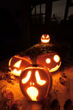 Halloween-Steckfassung-Olaternenkürbise Lizenzfreies Stockbild